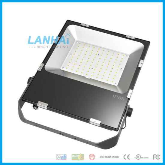 Ultra Thin 100W Osram/3030 LED Flood Light Black Aluminum Projecting Floodlight for Outdoor Lighting pictures & photos