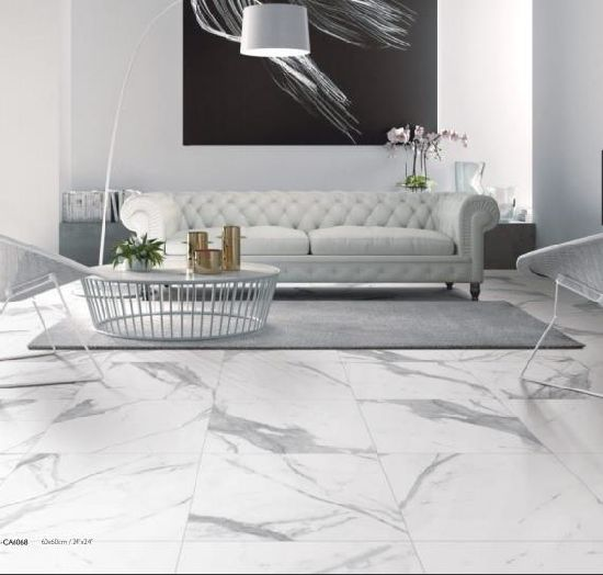 White Carrara Marble Porcelain Ceramic Flooring Wall Tile (9 pattern) pictures & photos