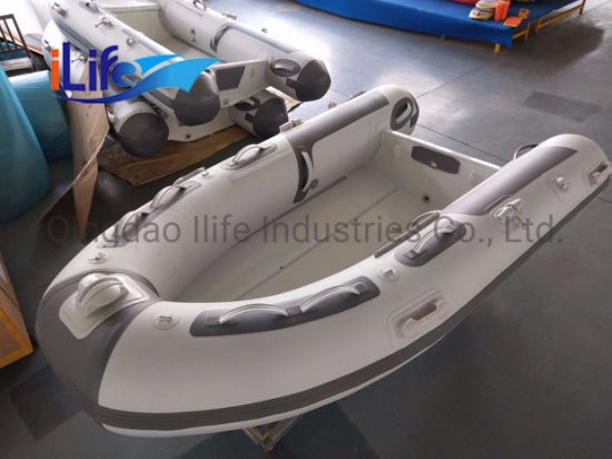 Ilife 2.7 M/ Hypalon/PVC Tube Military Rigid Inflatalbe Aluminum Hull Rib Fishing Rescue Boat for 3 Persons with Good Price