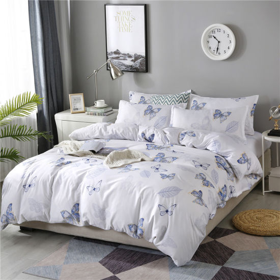 Cheap Price China Home Textile Factory Printed Duvet Cover Bed Sheets