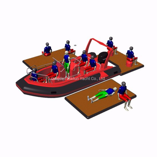 PVC or Hypalon Inflatable Rescue Boat Military Inflatable Boat