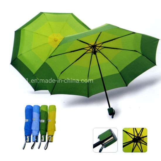 Custom Outdoor Furniture Promotion Gift Folding Umbrella with Logo Printing