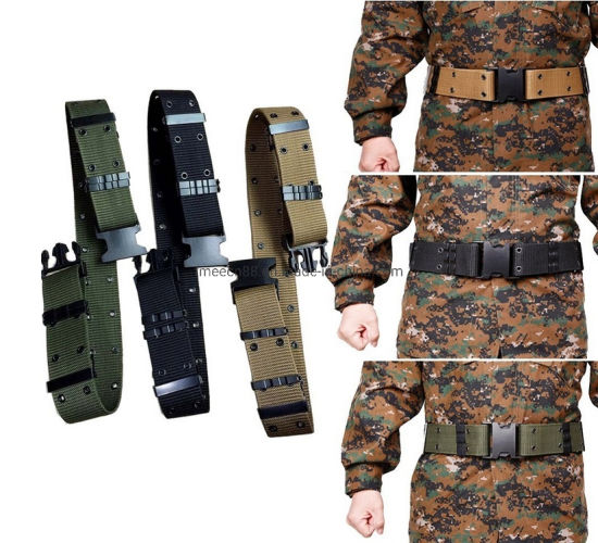 Military Tactical Outdoor Hiking Travelling Multi-Functional Stretch Camo Duty Belt