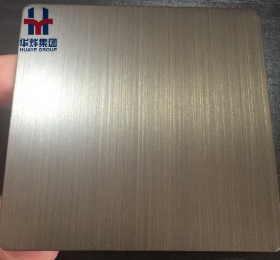 Copper Hairline Satin Finished Stainless Steel Decorative Sheet Plate pictures & photos