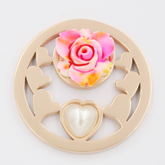 Heart Coin with Pearl for Valentine′s Day Gift Fashion Jewelry pictures & photos
