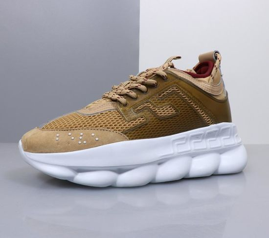 New Chain Reaction Men Women Luxury Brand Designer Shoes Best Quality Fashion Trainers Sneakers Casual Shoes with Dust Bag 36-45 pictures & photos