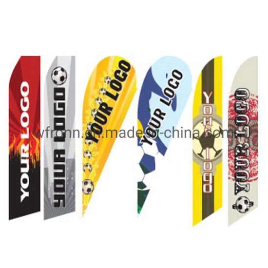 Wholesale Printing Polyester Ad Exhibition Display Teardrop Beach Feather Flag
