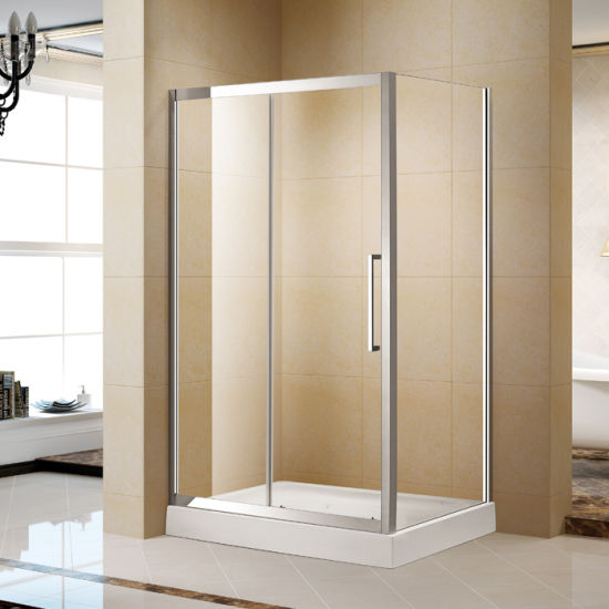 China Project 304 Stainless Steel Frame Shower Sliding Enclosure ...