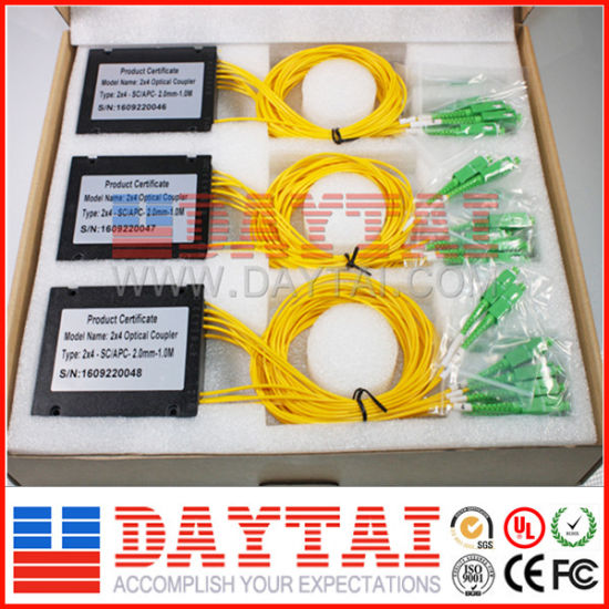 2X4 Fiber Optical Coupler ABS Box with Sc/APC Connector pictures & photos