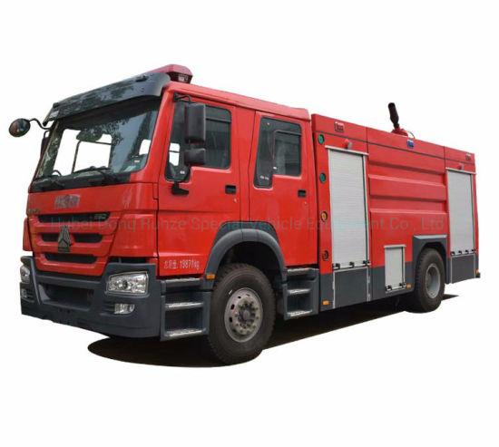 HOWO Double Cabin Fire Truck Duble Cabin Rhd/LHD 4X2 /4X4 Offroad All Wheel Drive with 6500liters - 8000L Water Foam Tank