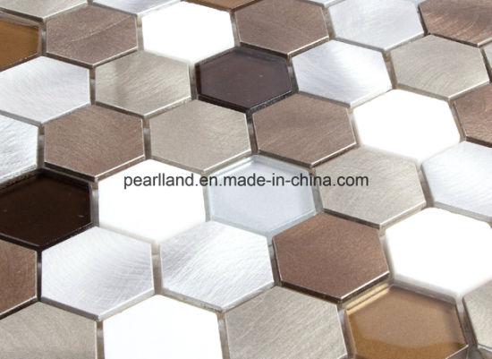 China Aluminum Mosaic Tiles Stone Tile Matel Glass Tiles Decoration