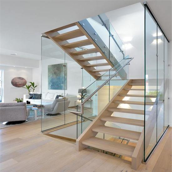 High Quality New Design Modern Stair Railing Glass Aluminium Balustrade