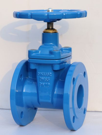 DIN F4 Resilient Seated Gate Valve (Z45X-16Q-DN50-DN600) pictures & photos