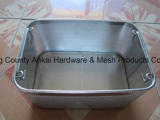 Stainless Steel Perforated Mesh Endoscope Basket pictures & photos