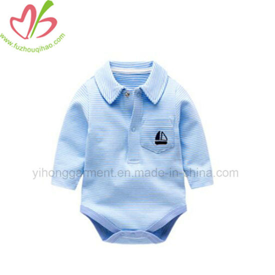 e468da280 China Little Baby Boy Polo Shirt Design Kids Wear Romper - China ...