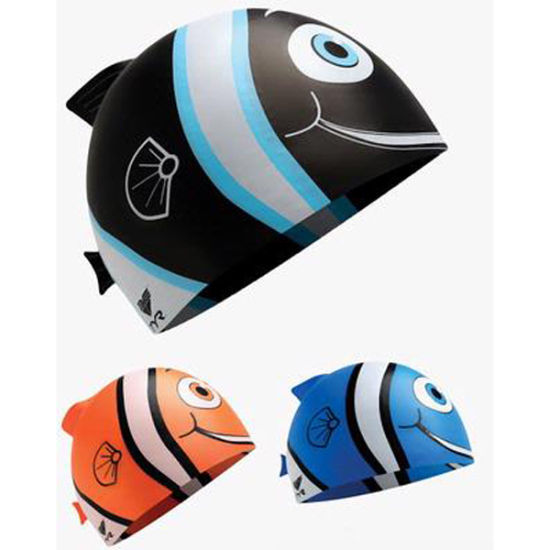 Multi-Color Kid′s Lovely Nemo Printed Silicone Swimming Caps pictures & photos
