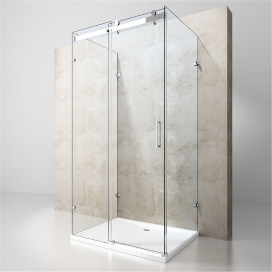 China 3 Panel Frameless Glass Shower Enclosure With Sus304 Stainless