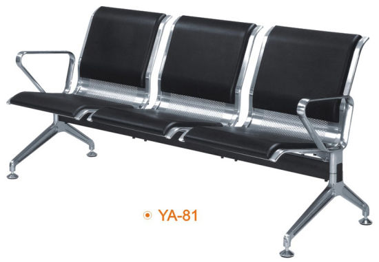 3 Seater Metal Hot Waiting Chair Hospital Public Office Stainless Steel Furniture Ya 81