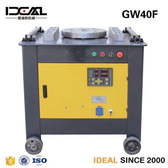 High Power Motor 380VAC Bender Gw40 Digital Panel 40mm 3kw Rod Bar Bending Machine for Price