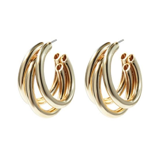 Silvestoo Jaipur Yellow Gold Plated /& Oxidized Earring For Women /& Girls PG-126505