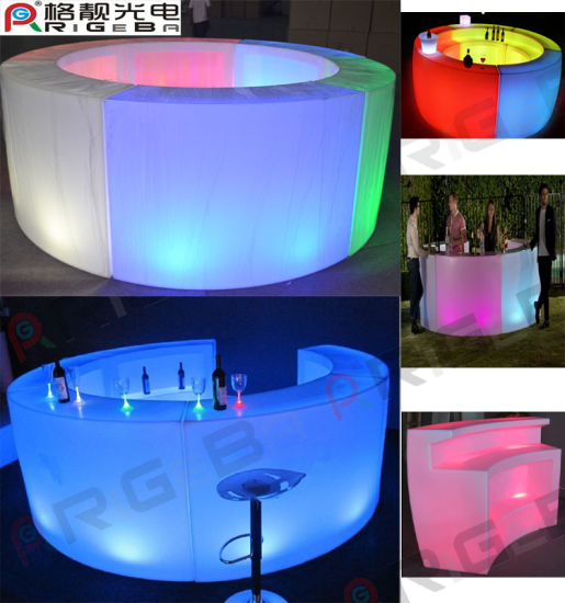 Change Color LED Furniture Sofa And LED Bar Table Counter