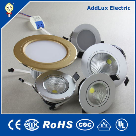 Ce UL Saso SMD LED Down Light / COB LED Downlight Made in China for Hotel, Accent, Bar, Living Room, Bedroom, Dining Room Lighting From Best Distributor Factory
