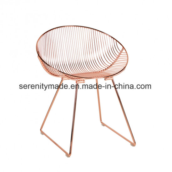 Brilliant Contemparory Steel Frame Metal Wire Chairs Dining Room Uwap Interior Chair Design Uwaporg
