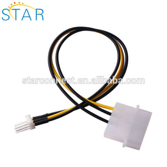 China Factory 4-Pin Molex to 3pin Connector Wire Harness Computer CPU on
