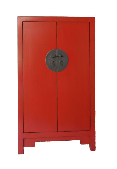 Chinese Antique Furniture Red Wooden Wardrobe Lwb509