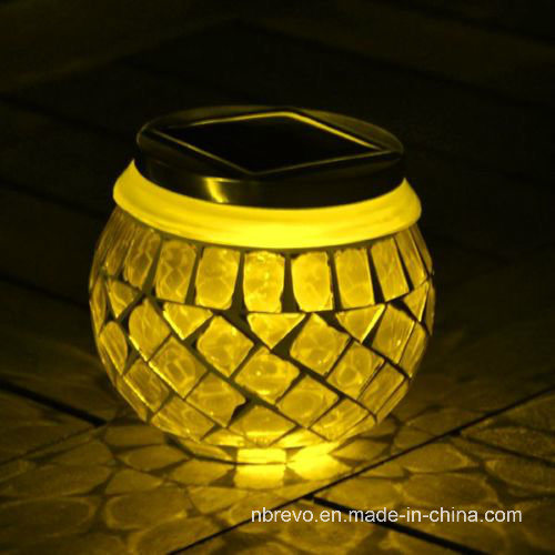 Mosaic Glass Solar Sun Jar for Decoration (RS114) pictures & photos