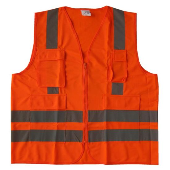 Work Wear Reflective Safety Vest with Pockets