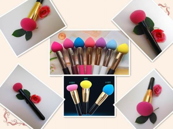 Latex Free Makeup Brush Puffs Hydrophilic Material pictures & photos