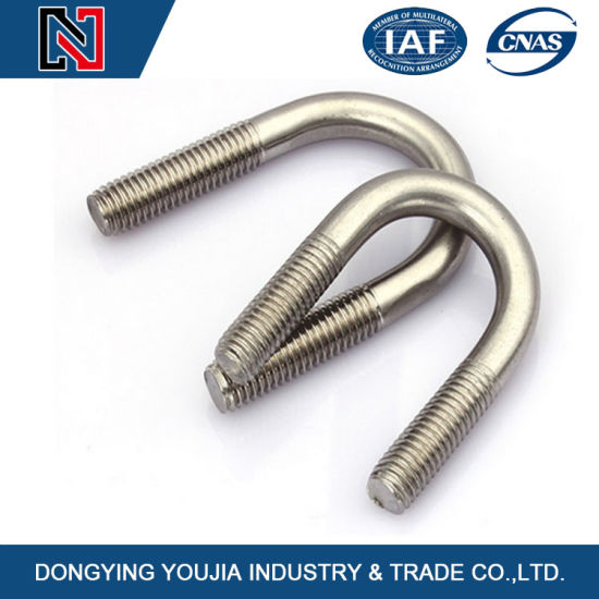 Stainless Steel A2-70 Fasteners U Bolt Pipe Clamp