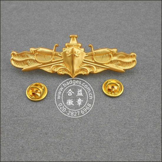 Gold Plated Organizational Pins, Military Badge (GZHY-BADGE-001) pictures & photos