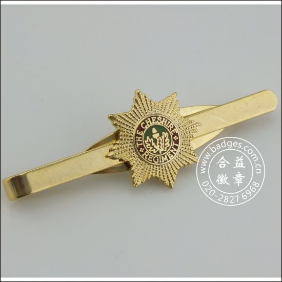 Gold Tie Clip with Badge, Metal Stickpin (GZHY-TC-071) pictures & photos