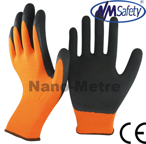 Nmsafety Nylon Coated Black Foam Latex Gardening Work Glove