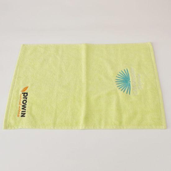 2019 Custom Plain Dyed Small Hand Towel Cheap Embroidery Logo Towel 100% Cotton