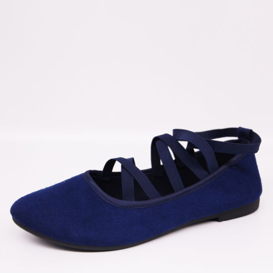 Navy Girls' Ballets Flats Fashion Round Toe Casual Shoes
