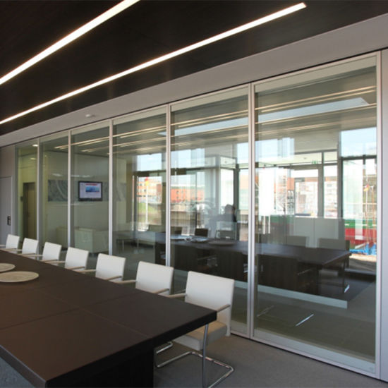 Movable Aluminium Frame Glass Office Partition Wall