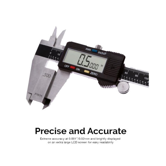 0-6 Inches Electronic Digital Caliper Stainless Steel Body with Large LCD Screen Inch//Millimeter Conversion