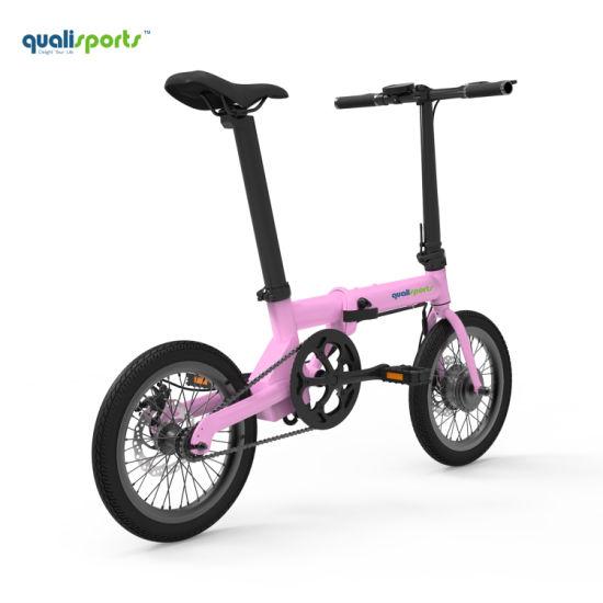 Electric Moped 36V Folding Pedal Bike Pretty E Bike Women