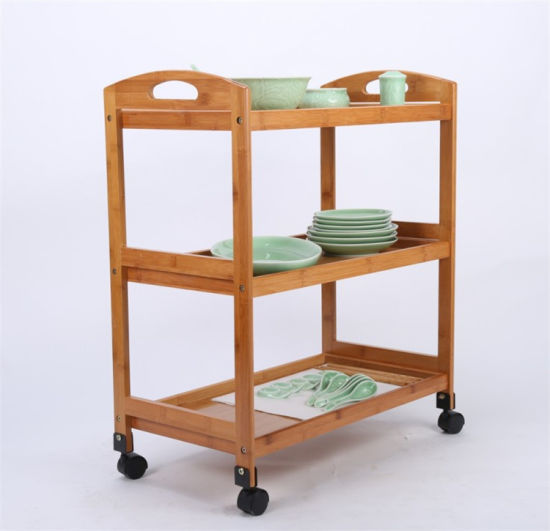 China Freestanding Portable Rolling Floating Kitchen Island Table