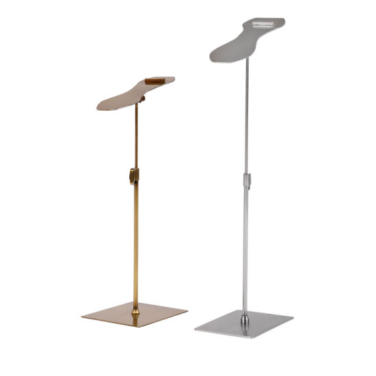 Metal Shoes Exhibition Mall Adjustable Table Display Shelves for Store/Accessories Holder