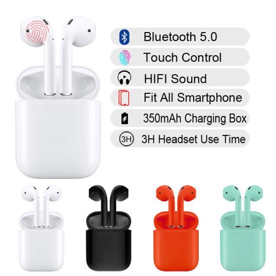 2019 Best Selling Wireless Bluetooth I12 Tws Earphones for Mobile Phones