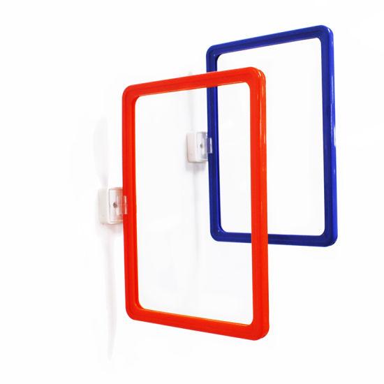 Supermarket Magnetic Poster Holder Plastic Pop Display Clip