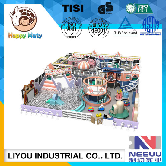 Funny Kids Indoor Soft Playground Amusement Trampoline Park for Shopping Mall