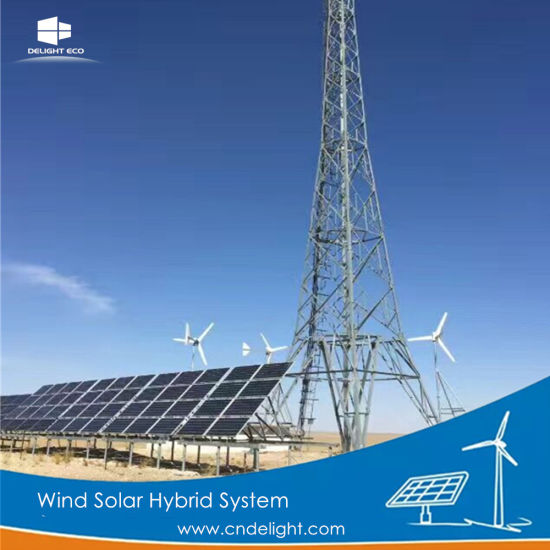 Delight Grid-Tied Pmg Permanent Magnet Wind Solar Power System Turbine pictures & photos