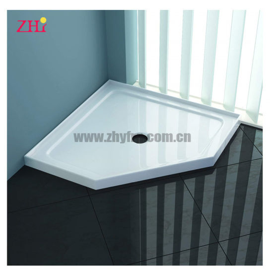Rectangular Fiberglass Shower Tray with Special Shape, Shower Basin, Shower Floor