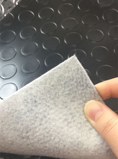 PVC Flooring Roll Car Mat Coin Design PVC Mat with Non-Woven Backing