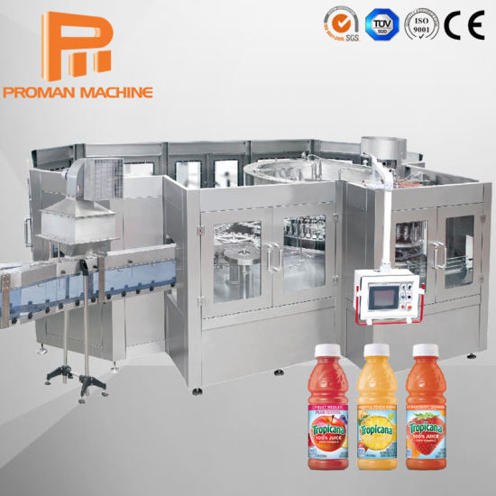 Automatic Pet Bottle Beverage Drinking Water Orange Juice Production Filling Machine